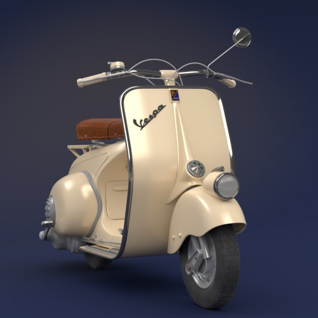 罗马假日 VESPA 摩托车 1946款-3D打印