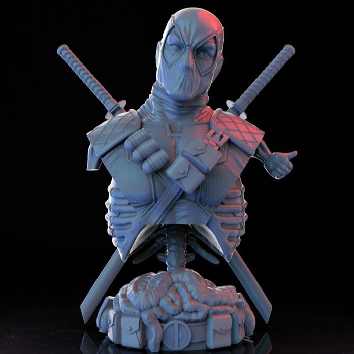 漫威Deadpool死侍半身像3D打印模型