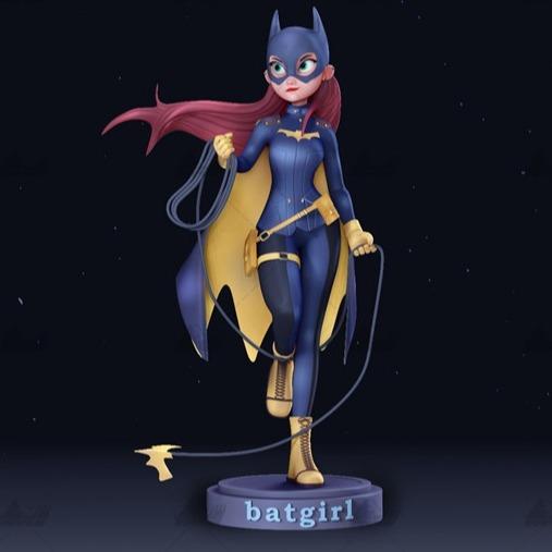 蝙蝠女卡通版 3D打印模型