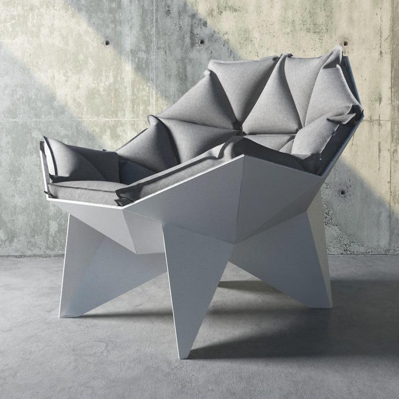 3D模型-多边形桌椅