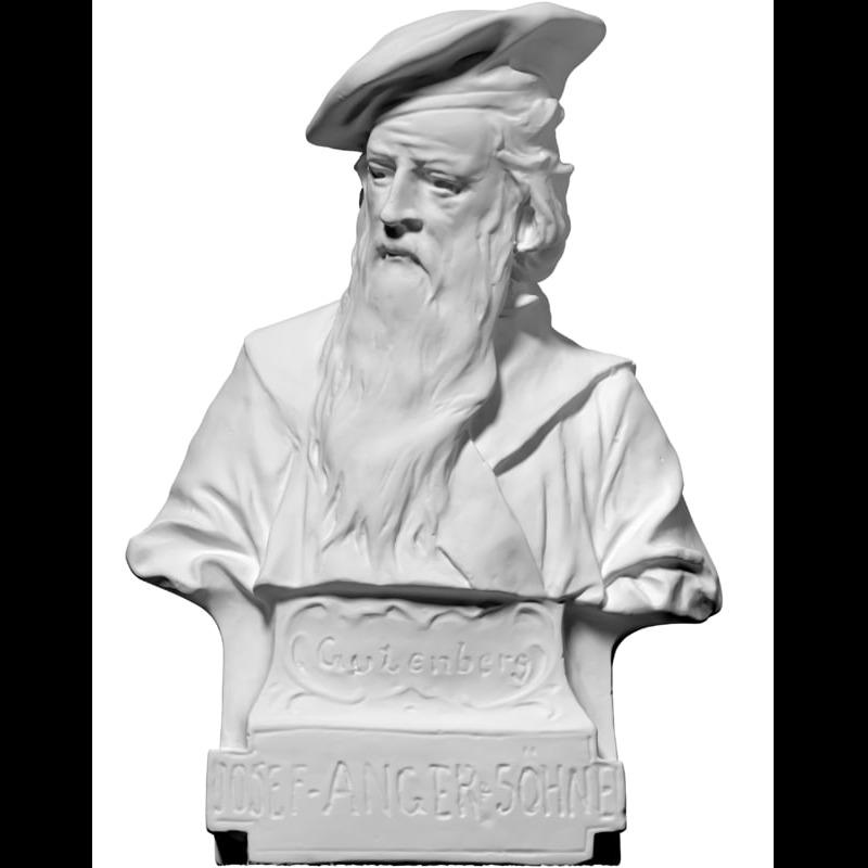 3D模型-古登堡半身像(摄影)