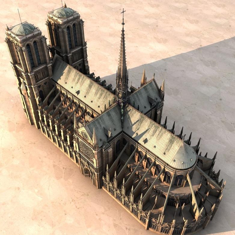 3D模型-巴黎圣母院 Notre Dame de Paris