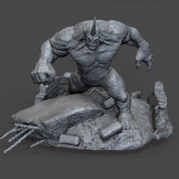 3D模型-犀牛怪 3D打印模型stl