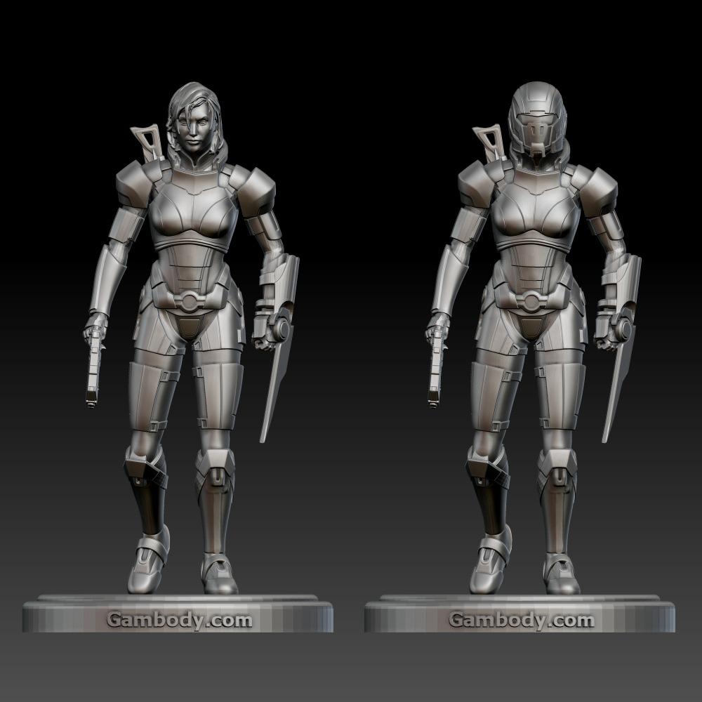 3D模型-质量效应女性