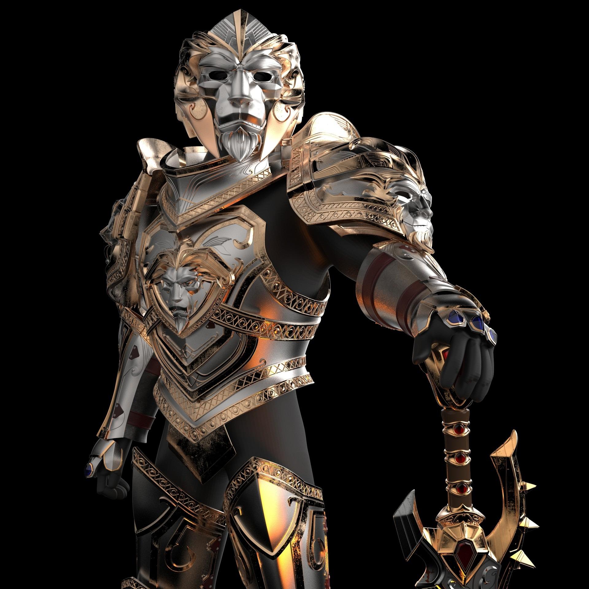 3D模型-安度因    全套盔甲