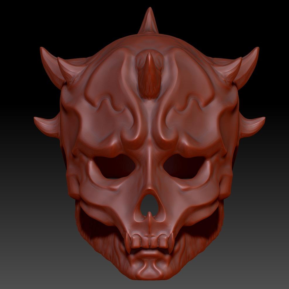 3D模型-绝地武士 面具 Darth Maul Samurai Mask