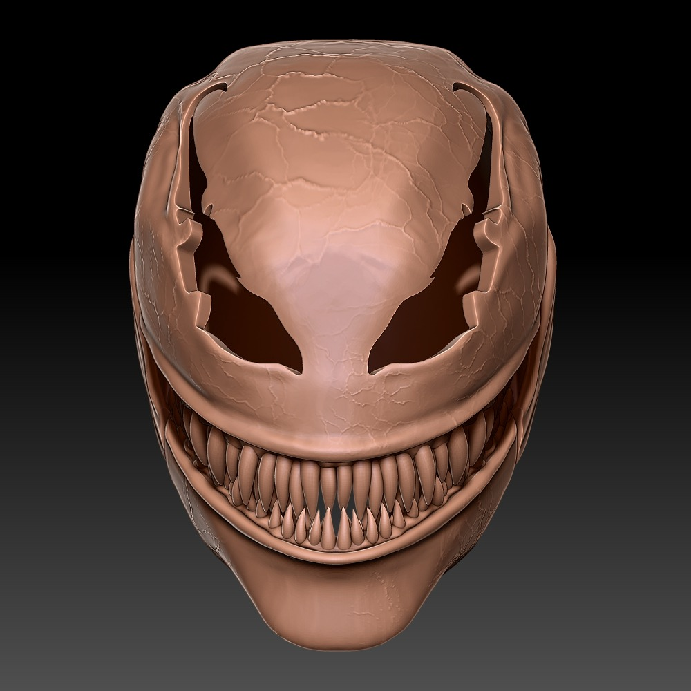 3D模型-毒液 全面具头盔