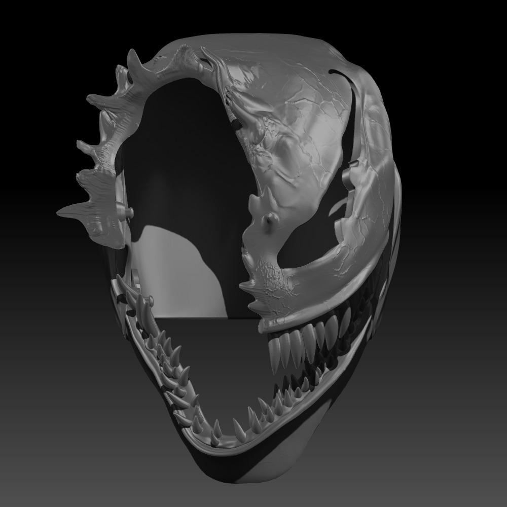 3D模型-毒液  头盔损坏
