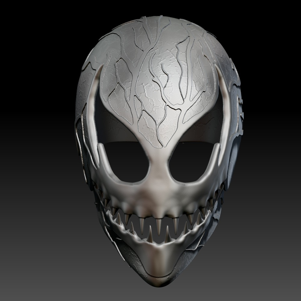 3D模型-大屠杀面具carnage mask