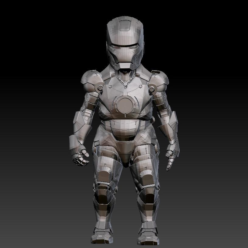 3D模型-Q版钢铁侠