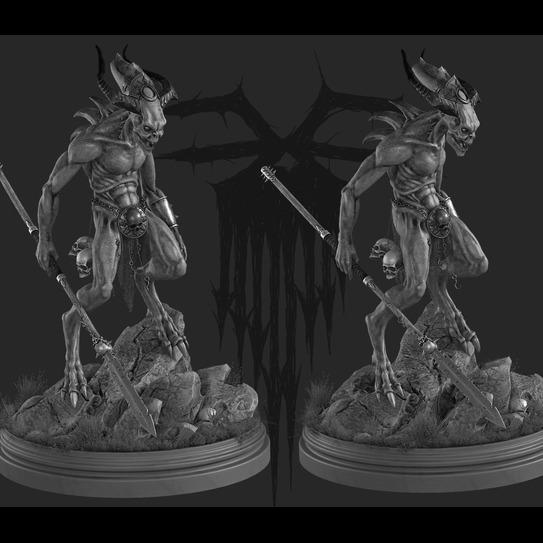 3D模型-恶魔人手办