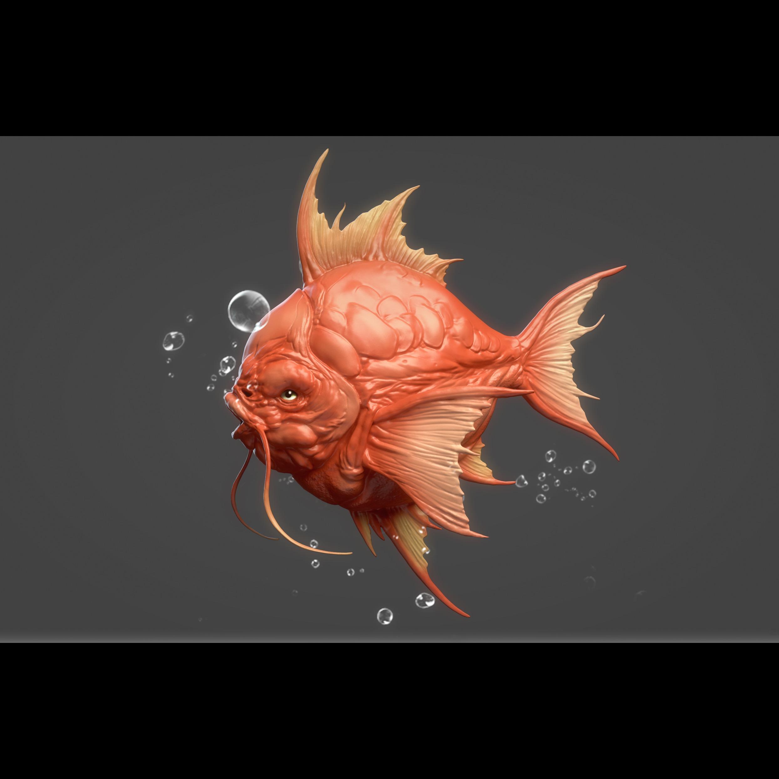 3D模型-鲤鱼王