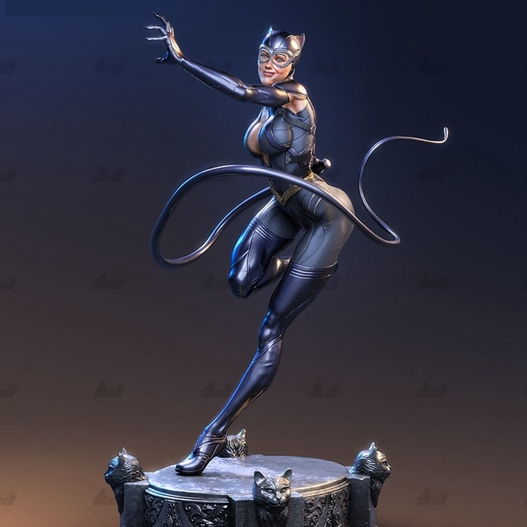 猫女 漫威英雄3D打印模型 STL-3D打印