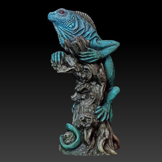 3D模型-蜥蜴雕塑模型