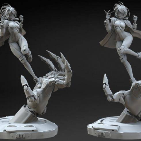 3D模型-手办级3D打印图纸机械手阿丽塔雕像