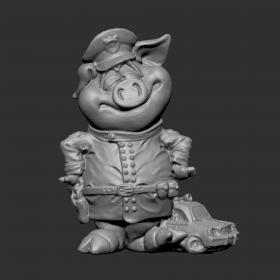 猪警察带小警车